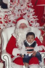 With Santa at his enchanted grotto!