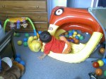 pesky ball pit, tipped over